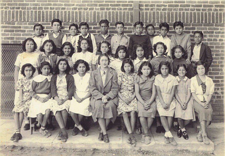 """Lincoln Elementary School for """"Mexican"""" children in Orange County, Calif., 1930s."""