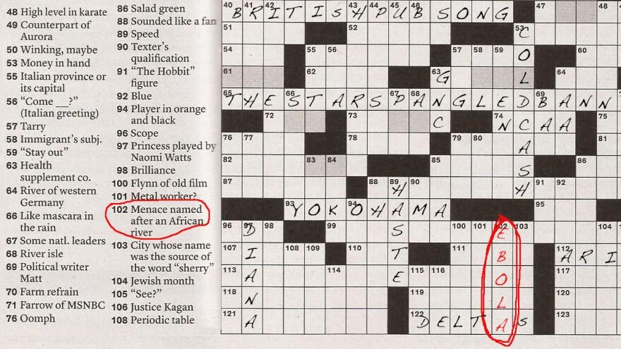 Cross-word Puzzle