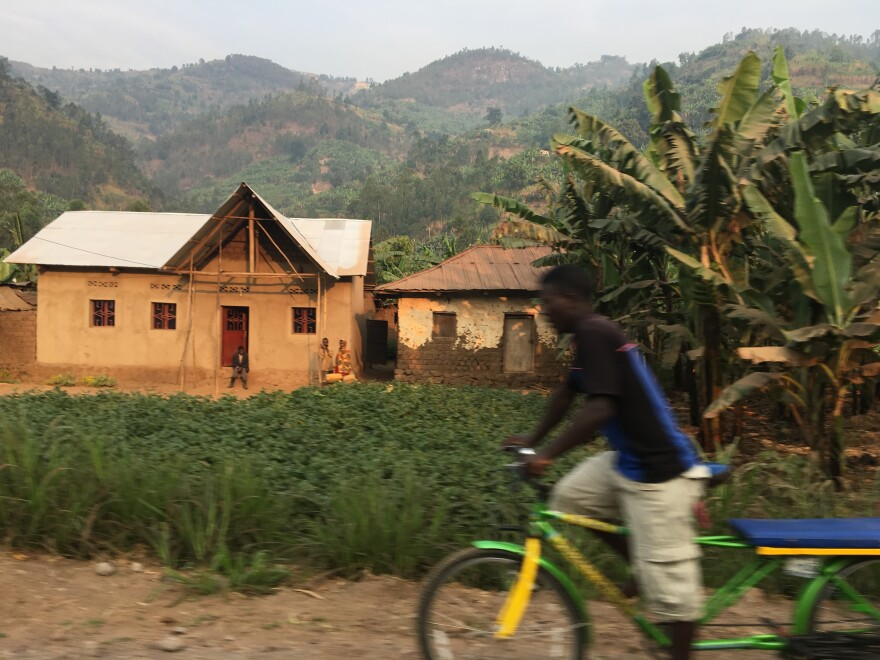 Rwandans came down from the hills and neighboring villages to celebrate Liberation Day in Shyira.