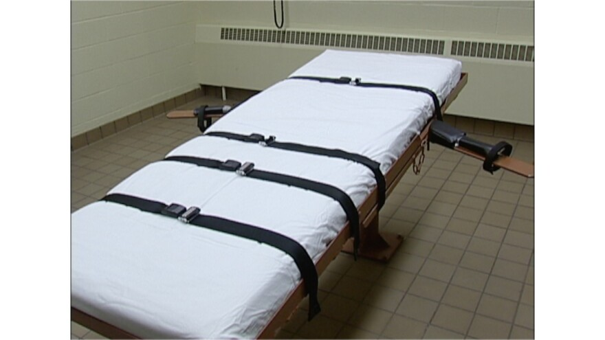 Photo of execution bed.