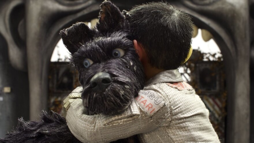 Bryan Cranston voices the gruff-but-lovable mutt Chief in Wes Anderson's star-studded, stop-motion tale <em>Isle of Dogs. </em>