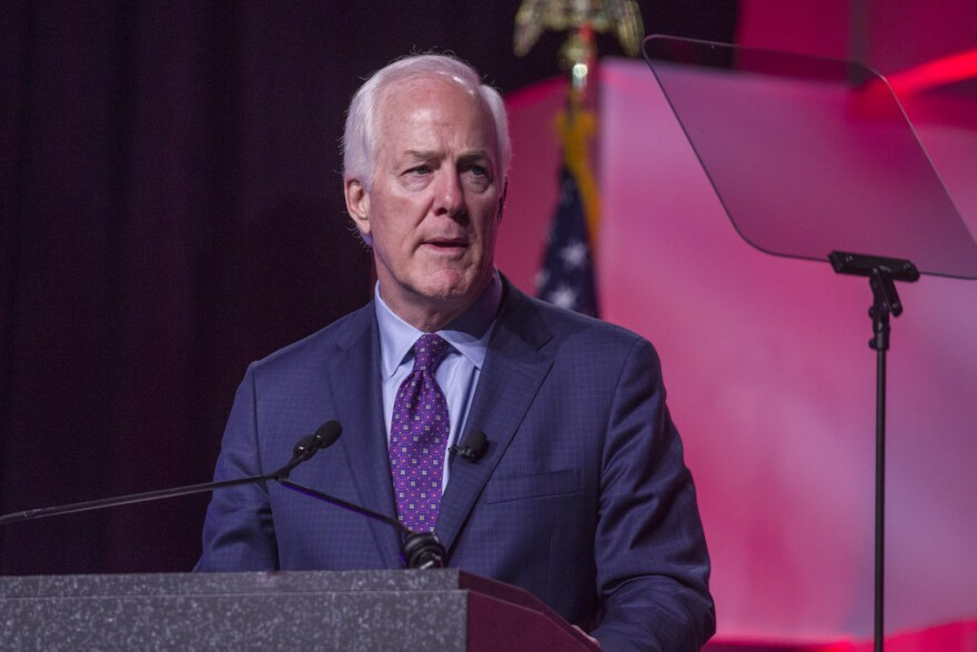 U.S. Sen. John Cornyn speaks at the Texas State Republican Convention 2018 on June 15, 2018.