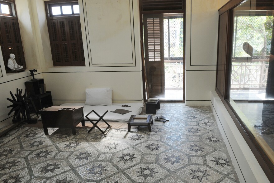 Gandhi's room in Mani Bhavan, the residence in Mumbai, India, where the leader planned political activities between 1917 and 1934.