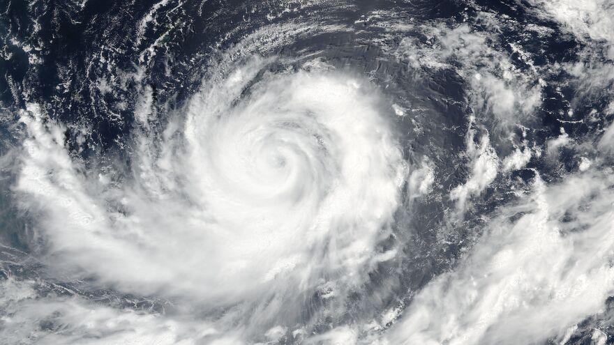 Typhoon Lionrock nears Japan on Aug. 26. The storm went on to hit North Korea, causing devastating floods.