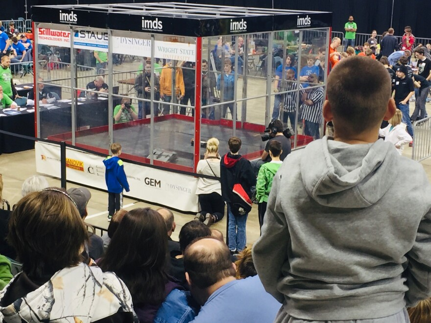 Spectators at the 2018 Xtreme Bot Challenge
