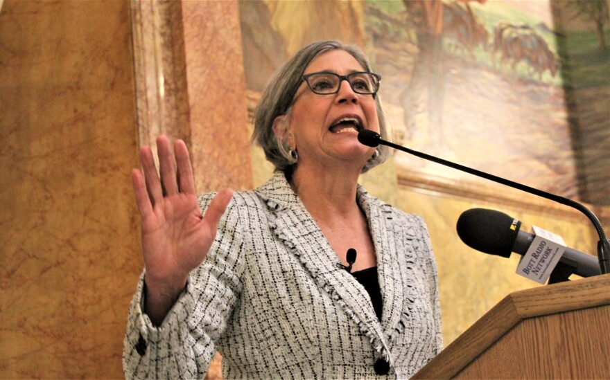 In each of the past two years, Kelly had enough lawmakers committed to expand Medicaid. But in both of those sessions, Wagle succeeded in blocking votes on the issue that Kelly made the signature of her campaign for governor. (Photo by Jim McLean, Kansas News Service)