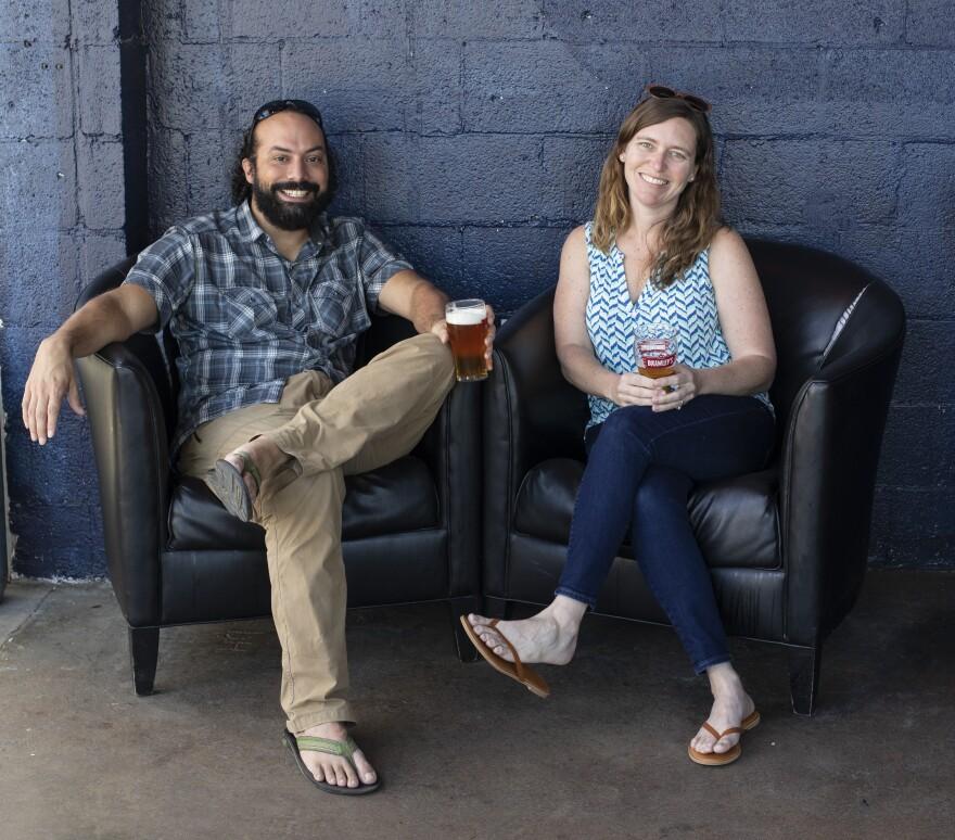 Chris and Tara Goulet run Birdsong Brewing in Charlotte.