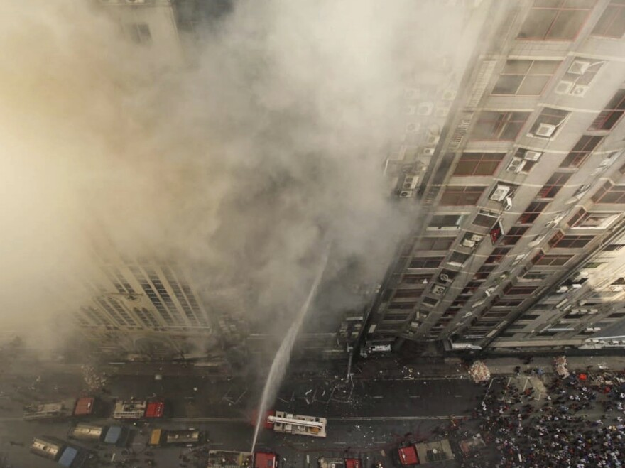 At least 25 people died in a fire at a high-rise office building in Dhaka, Bangladesh, Thursday — and officials say the building didn't have the right safety protocols in place.