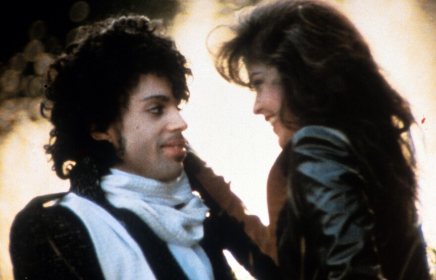 """""""I never wanted to be your weekend lover"""": Prince and his <em>Purple Rain</em> costar Appolonia Kotero."""