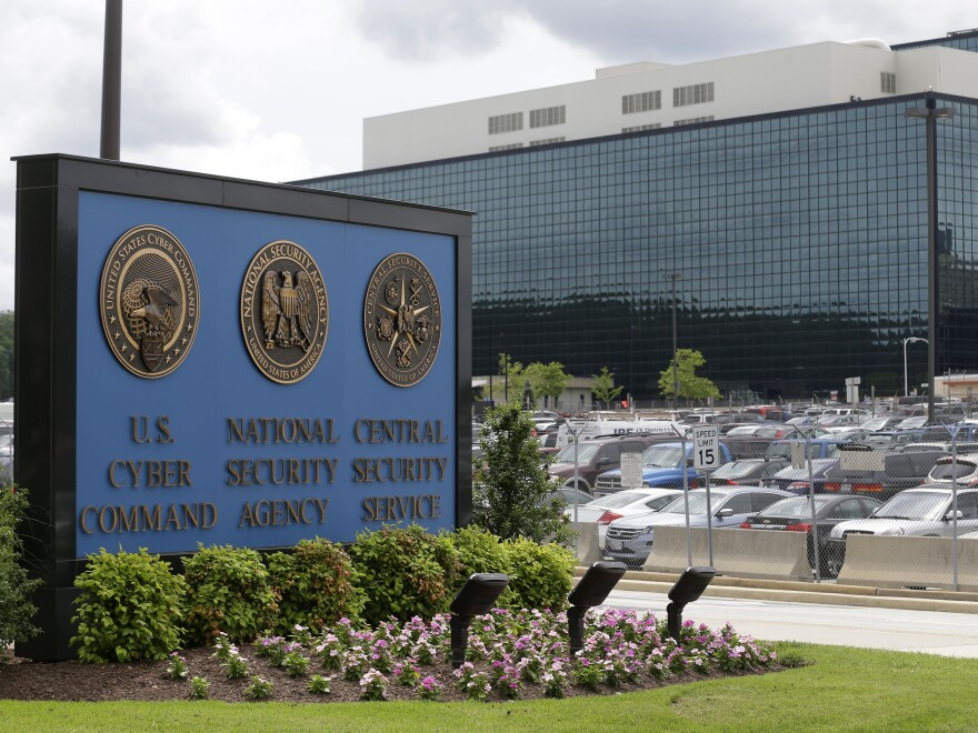 Headquarters of the National Security Agency at Fort Meade, Md. Its director, Gen. Paul Nakasone, says the NSA is stepping up its game against cyber adversaries.