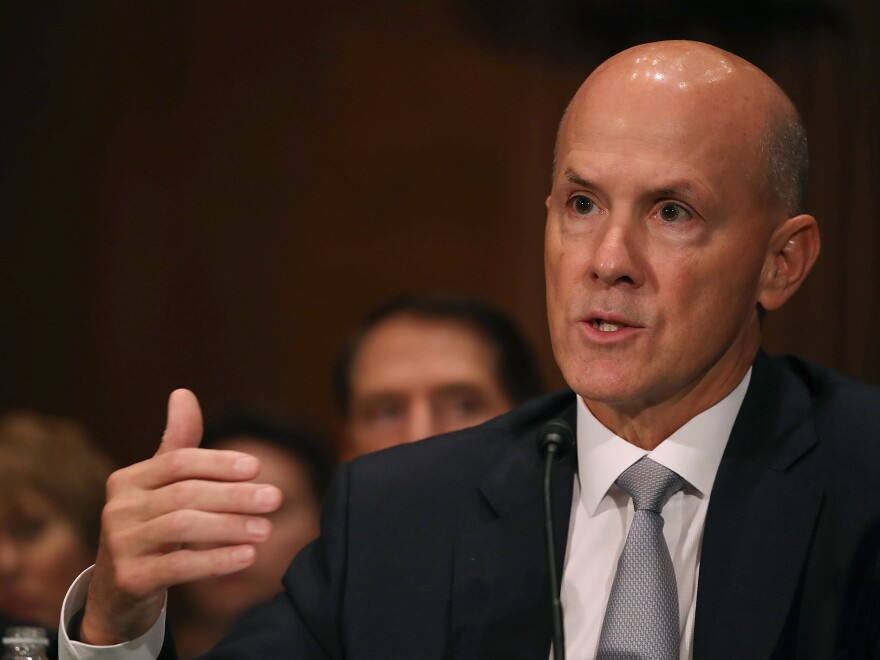 Former Equifax CEO Richard Smith came under harsh questioning Wednesday at a hearing of the Senate Banking Committee, the second of three congressional hearings on Equifax being held this week.