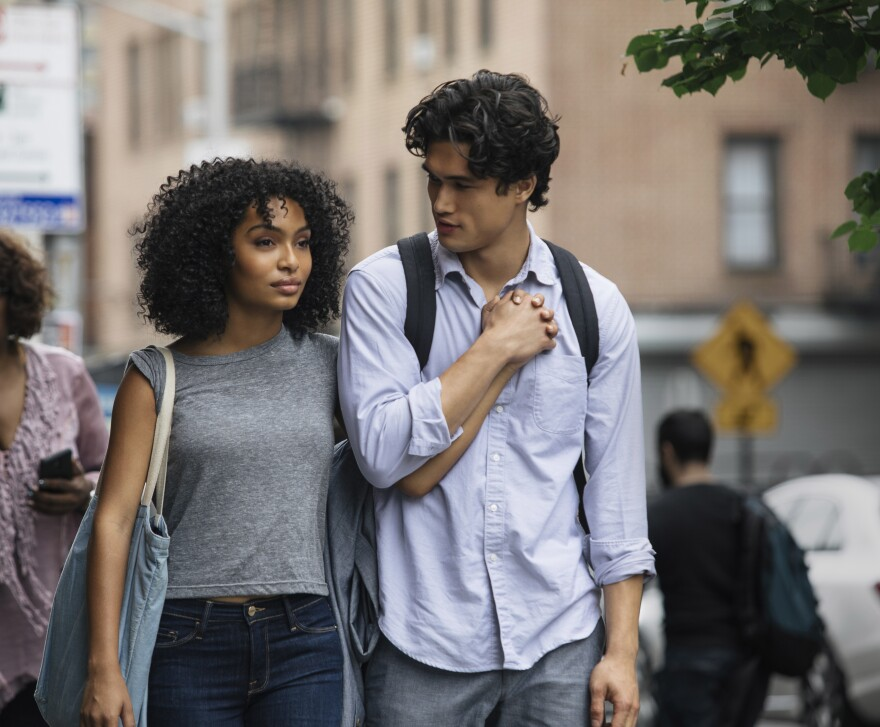 Natasha (Yara Shahidi) and Daniel (Charles Melton) fall in love over the course of a single day in the film adaptation of Nicola Yoon's young adult romance novel <em>The Sun Is Also a Star.</em>