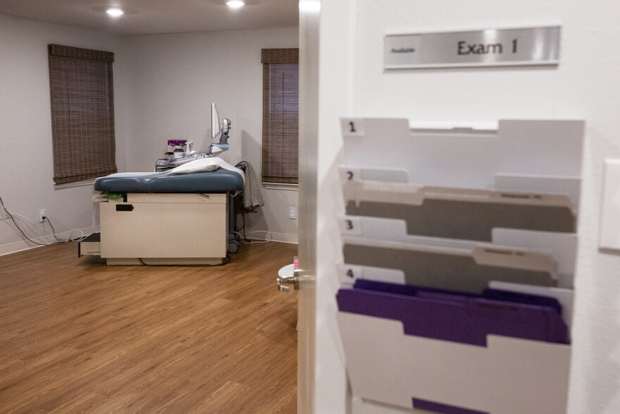 An examining room at The Source clinic in Austin