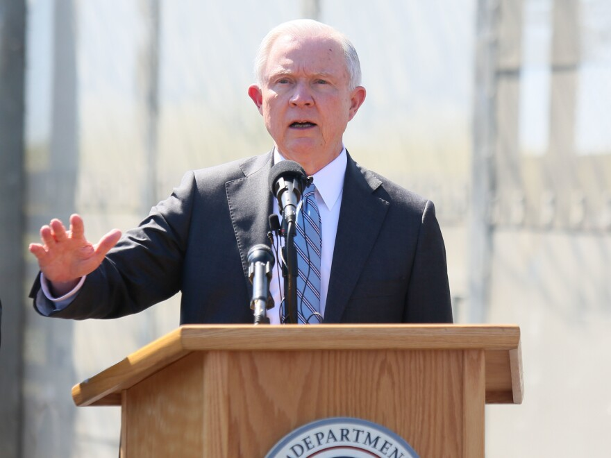 Then-Attorney General Jeff Sessions visits California in April 2017. Department of Justice Inspector General Michael  Horowitz has released a critical review of Sessions' 2018 zero tolerance policy on people trying to cross the Southwest border.