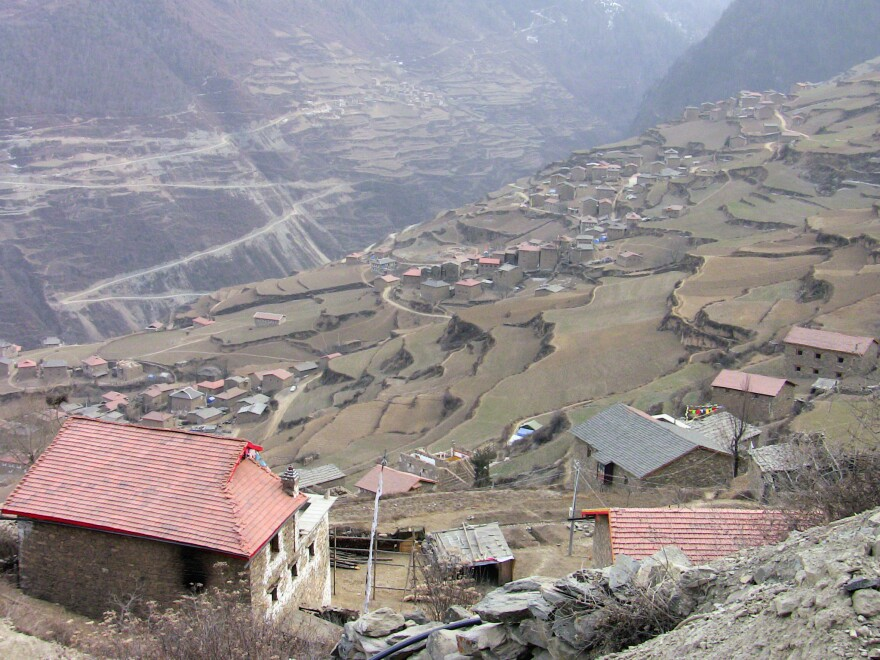 The village where Zanta lived, which is in a Tibetan region of southwestern China's Sichuan province.