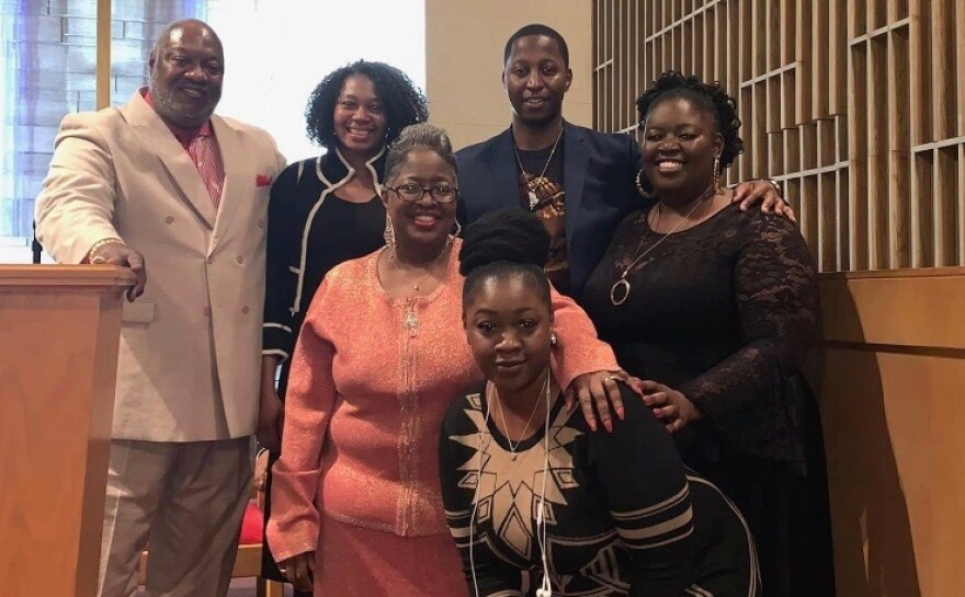 The Smith family gathers at New Beginning Missionary Baptist Church.  Provided