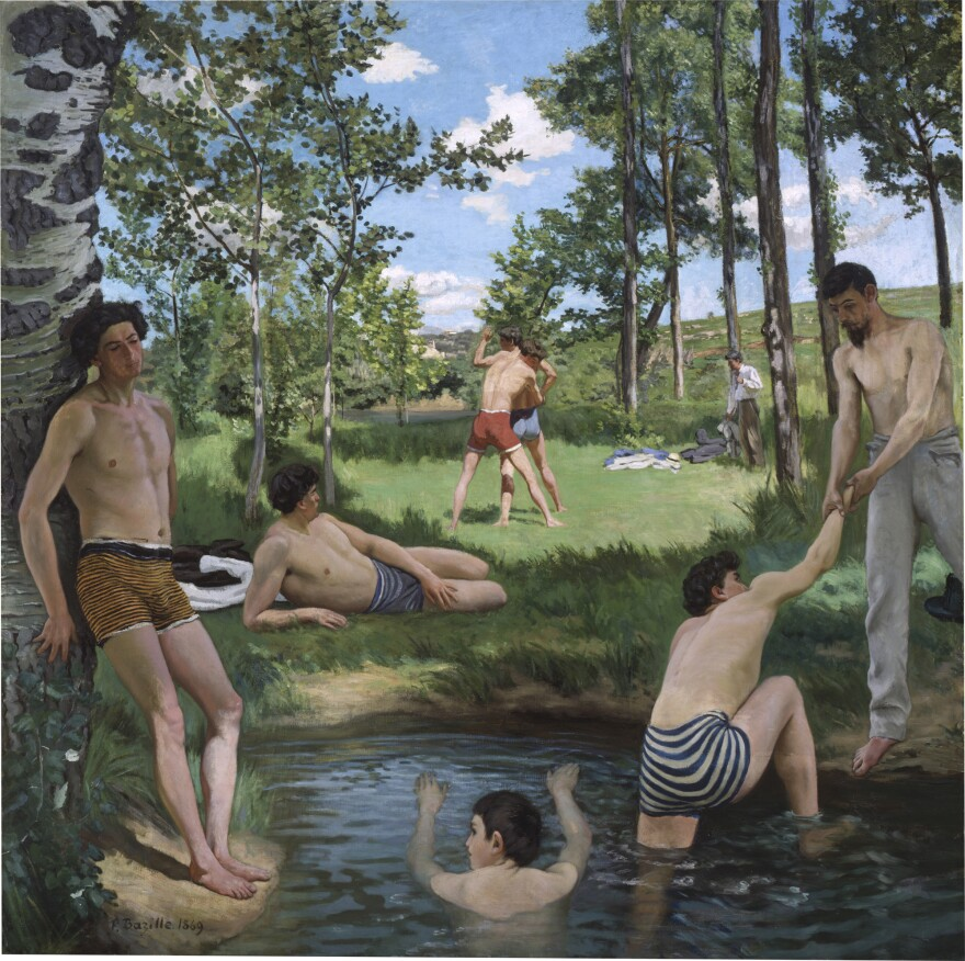 Bazille's <em>Summer Scene (Bathers)</em> earned him a spot in the Paris Salon.