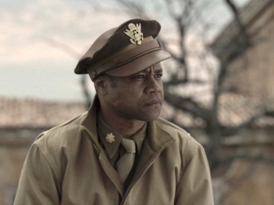 Cuba Gooding Jr. plays pipe-smoking, swaggering Maj. Emmanuel Stance in <em>Red Tails.</em>