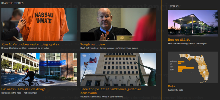"Screenshot from the Sarasota Herald-Tribune's ""Bias on the Bench"" series online."