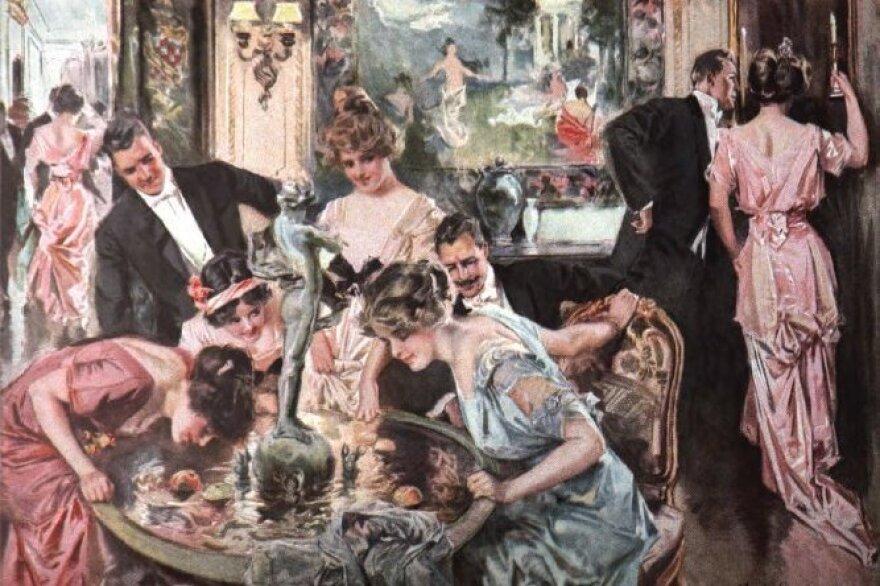 Howard Chandler Christy's painting <em>Halloween</em>, as reproduced in <em>Scribner's</em> in January 1916.