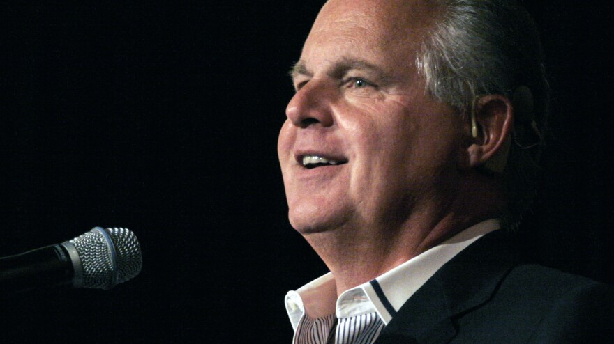 Rush Limbaugh, pictured in 2013, was honored at the Children's Choice Book Awards for his bestselling book <em>Rush Revere and the Brave Pilgrims: Time-Travel Adventures With Exceptional Americans.</em>