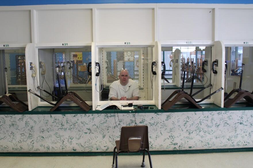 Death Row inmate Larry Swearingen in the Polunsky Unit prison in Livingston Texas