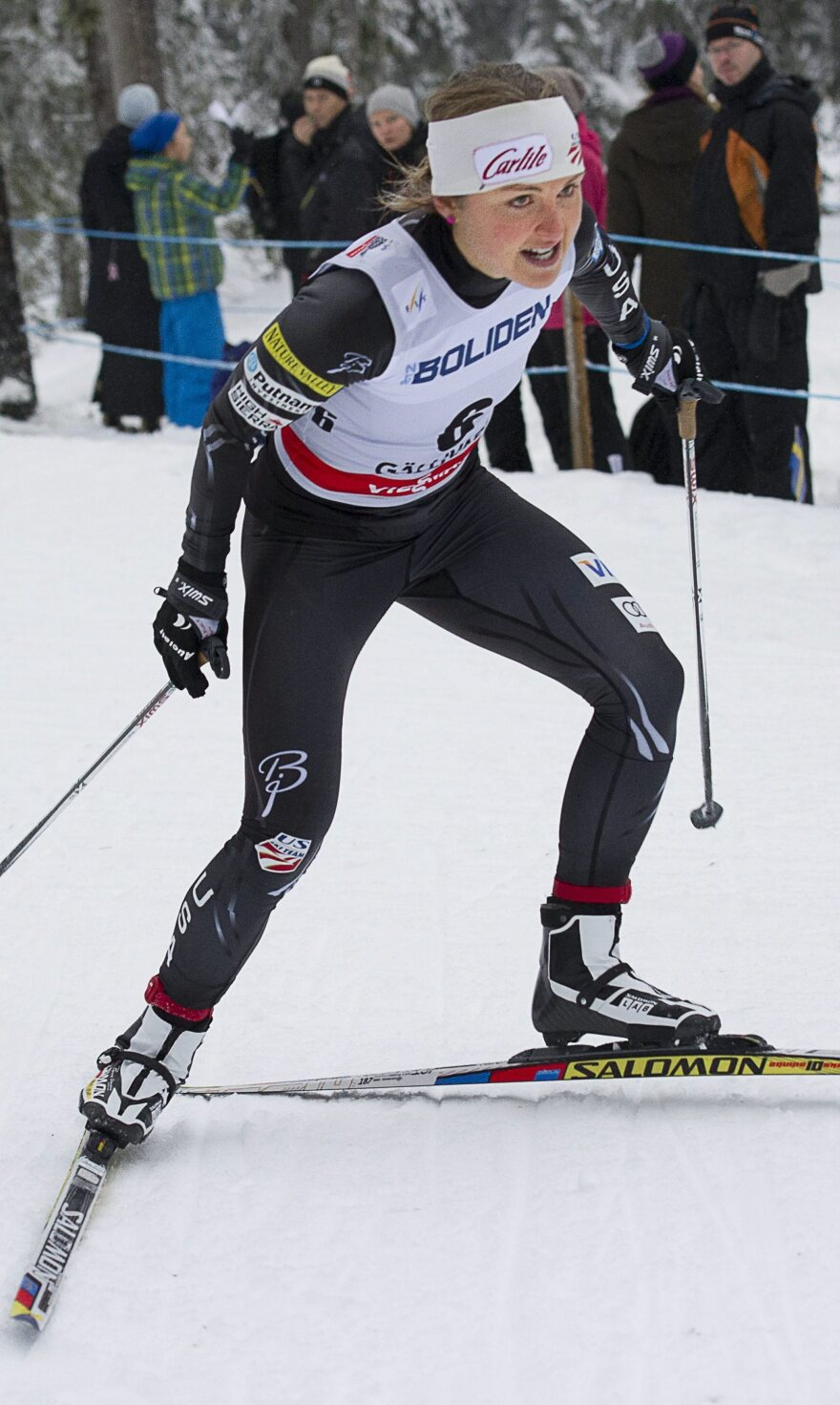 Holly Brooks competes in the 2012 Cross-Country World Cup tour in Sweden. If she makes it to Sochi, it would be her second Olympics.