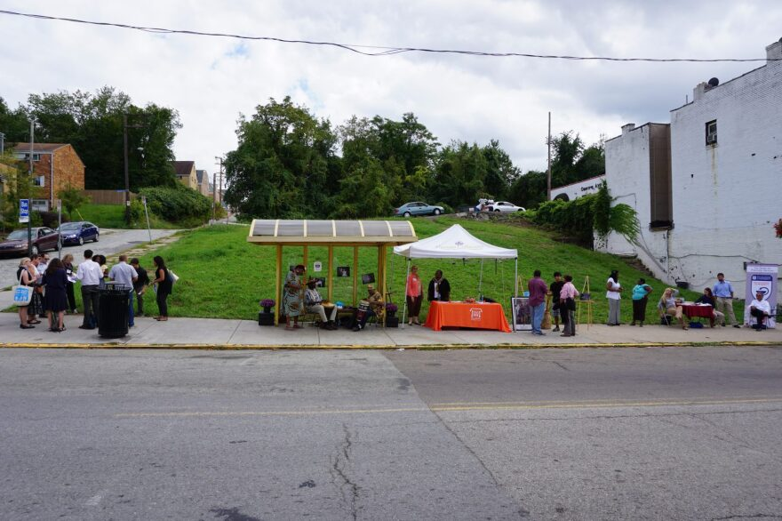 David Leyzerovsky and David Nelson's bus stop project in Pittsburgh. (Courtesy Project for Public Spaces)