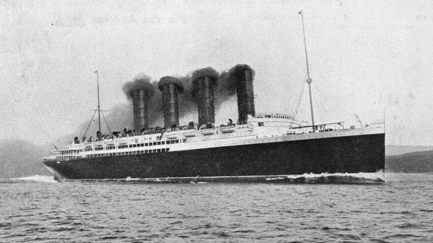 A German U-boat sank the luxury ocean liner Lusitania, seen here in 1907, on May 7, 1915.