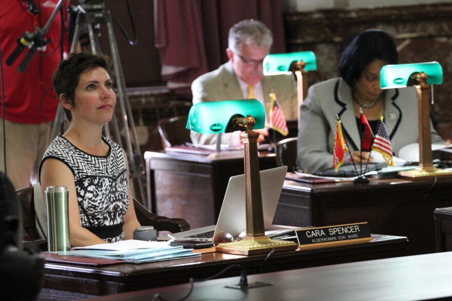 "20th Ward Alderwoman Cara Spencer, shown here in a 2015 file photo, says it is ""really alarming"" that city development agencies rewrote a development agreement with Paul McKee without the input of aldermen."