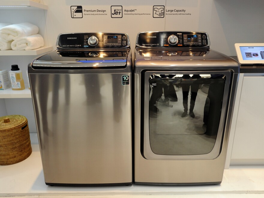 Samsung is recalling nearly 3 million top-load washers — but not front-load machines — following reports of excessive vibration that could cause the lids to blow off.