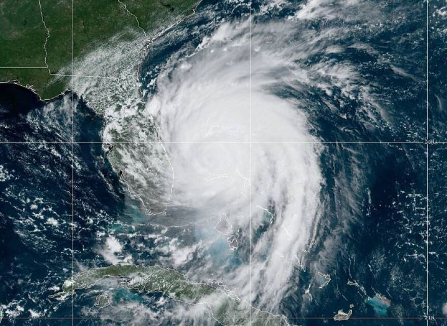 A satellite image shows Hurricane Dorian on Sept. 30, 2019. NOAA