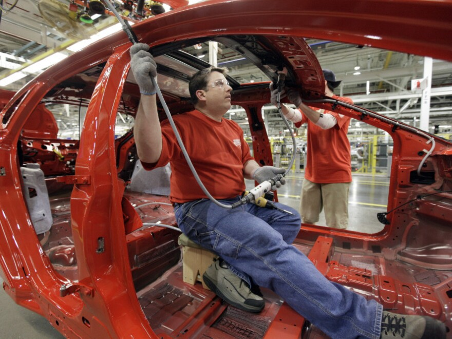 Ford's Michigan Assembly Plant used to produce SUVs. Now it churns out the Ford Focus, with help from a federal loan program. House Republicans are looking to cut funding for the program to offset money for disaster relief.