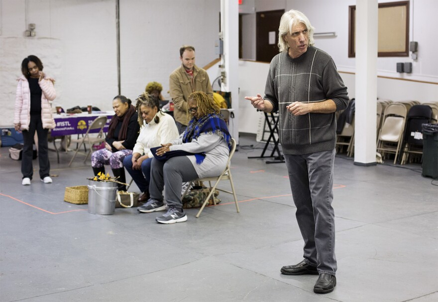 """Shannon Duffy, a longtime union activist, plays a reporter in """"Workers' Opera."""""""