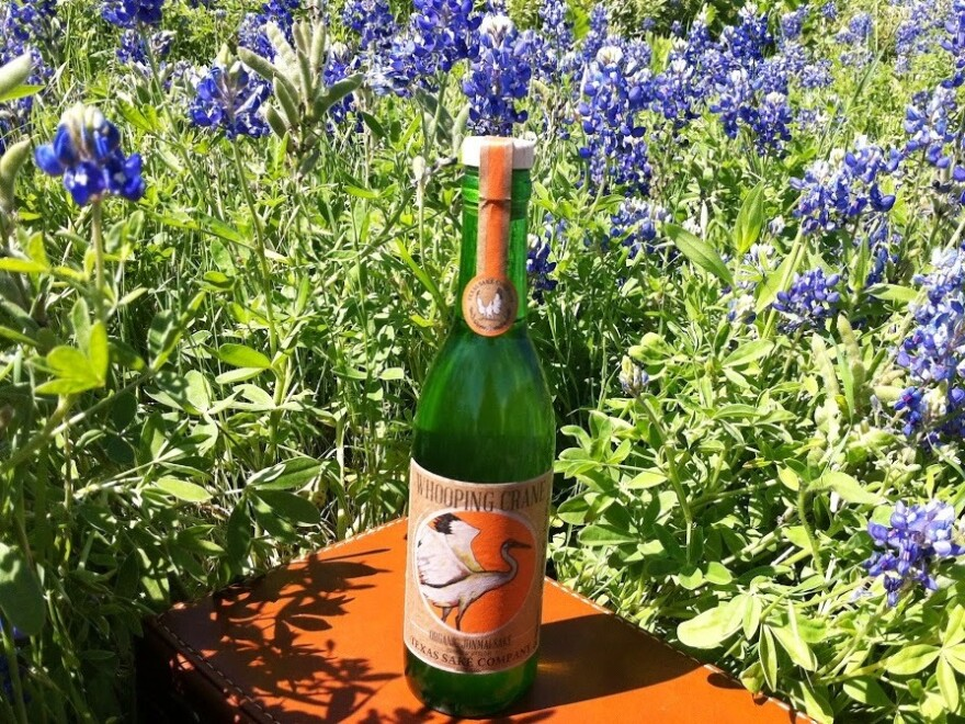 The Texas Sake Company uses a Texas variety of rice for its Whooping Crane brew.