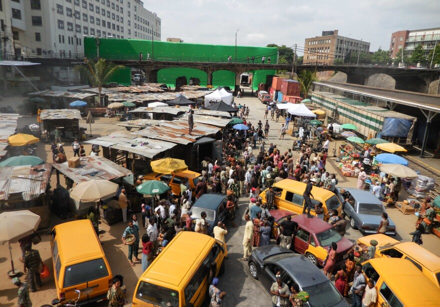 Some Nigerians were hoping that this scene from <em>Captain America</em> was filmed in Lagos — but actually it was a set in Atlanta.