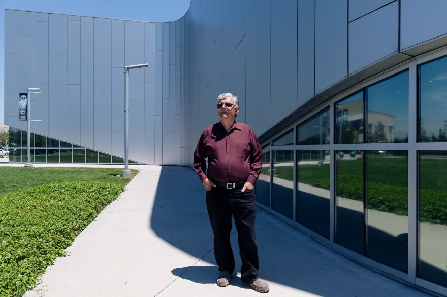 Gerald Blackburn at the Columbia Memorial Space Center in Downey, Calif., on July 2.