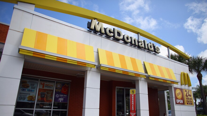 McDonald's says that same-store sales in its U.S. locations dropped nearly 5 percent in November, continuing a downward trend.