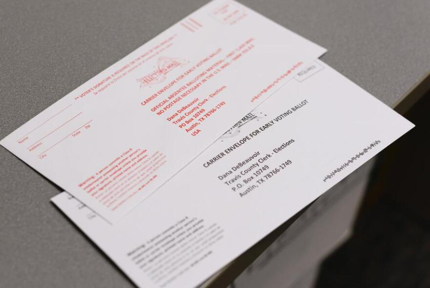 Texas mail-in ballots require voters to sign the outer envelope.