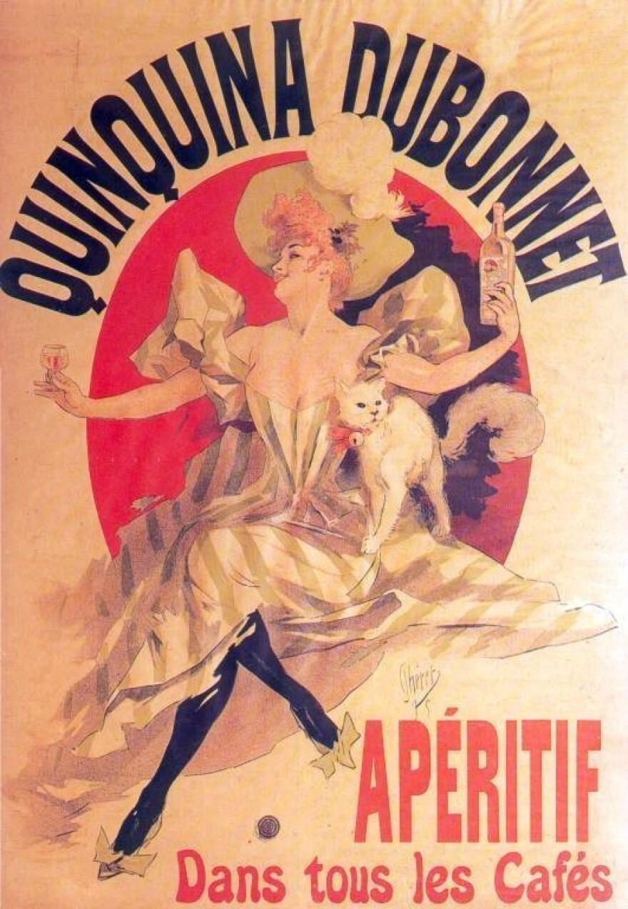 Dubonnet is a French liqueur made wine, herbs and quinine. Joseph Dubonnet concocted the beverage as way to make troops take their malaria medication.