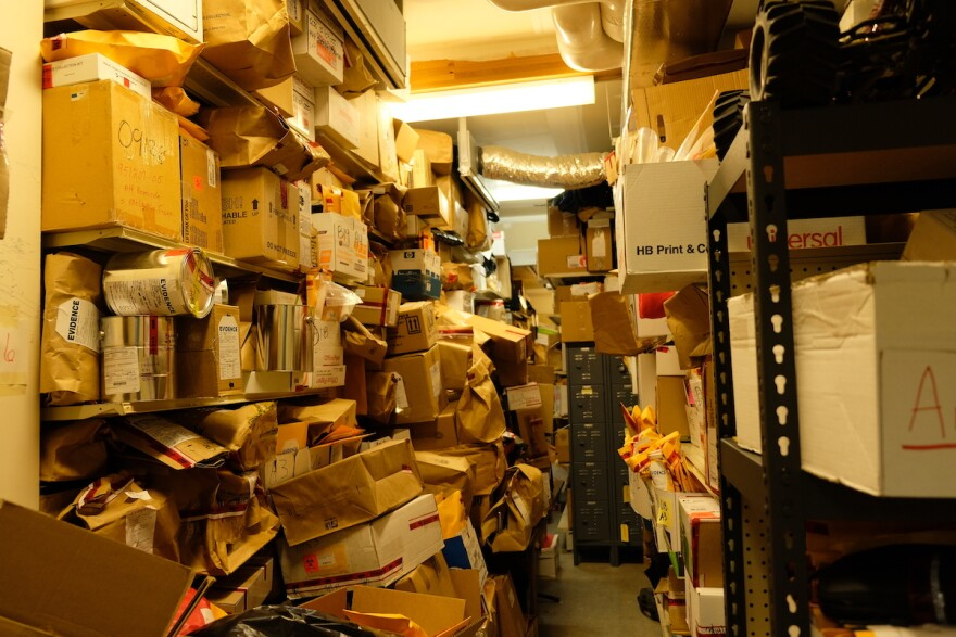 The evidence storage room in Gallatin County's Law and Justice Center is running out of room, Bozeman, Montana, August 14, 2019.