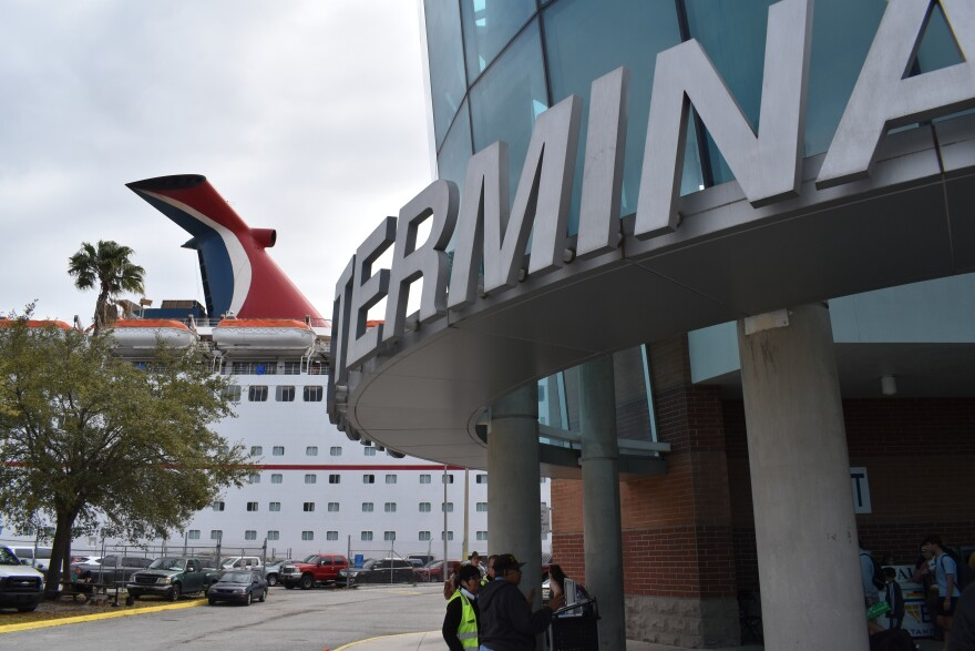 Carnival cruise ship docked at the Port of Tampa