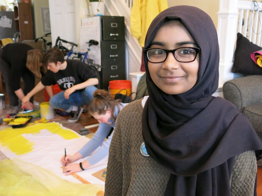 Sabirah Mahmud is a lead organizer in Philadelphia for the U.S. Youth Climate Strike. She says the effects of climate change are personal because her family is from Bangladesh where flooding already is big problem.