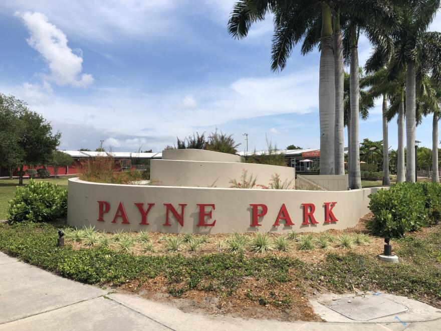 a marker at Payne Park in Sarasota