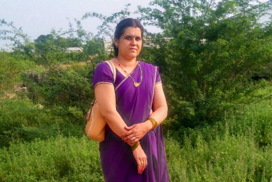Ranjana Dwivedi, a community health worker, goes door to door in Gurguda, a village in central India.