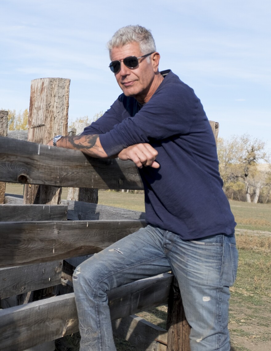 """Bourdain began his career as a dishwasher, and jokes that he learned """"all the most important lessons"""" of his life scrubbing dishes."""