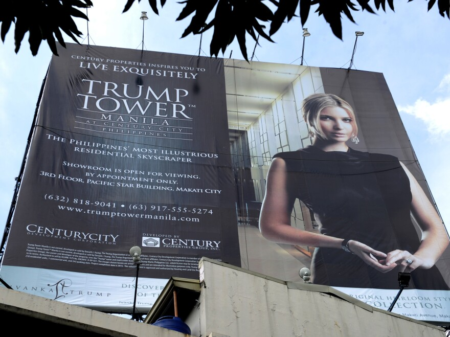 In the Philippines, an advertisement for Manila's Trump Tower, featuring Ivanka Trump.