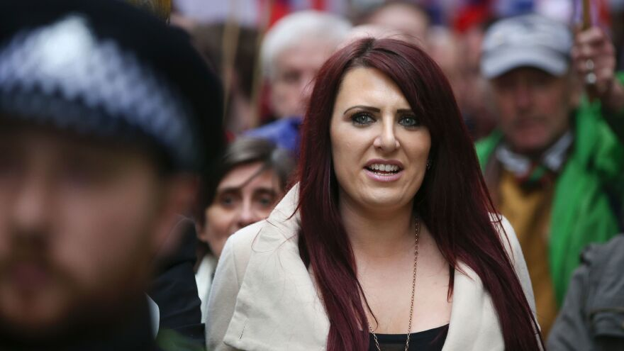 """Jayda Fransen, deputy leader of the far-right organization Britain First, tweeted: """"GOD BLESS YOU TRUMP! GOD BLESS AMERICA!"""" after the president retweeted a video from the controversial group."""