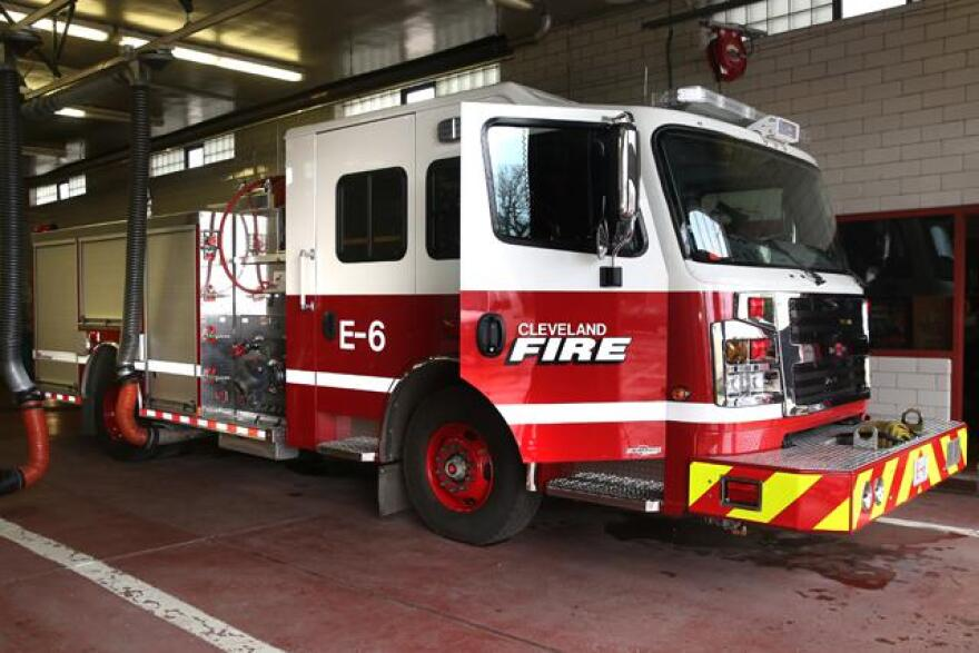 A photo of a Cleveland fire truck