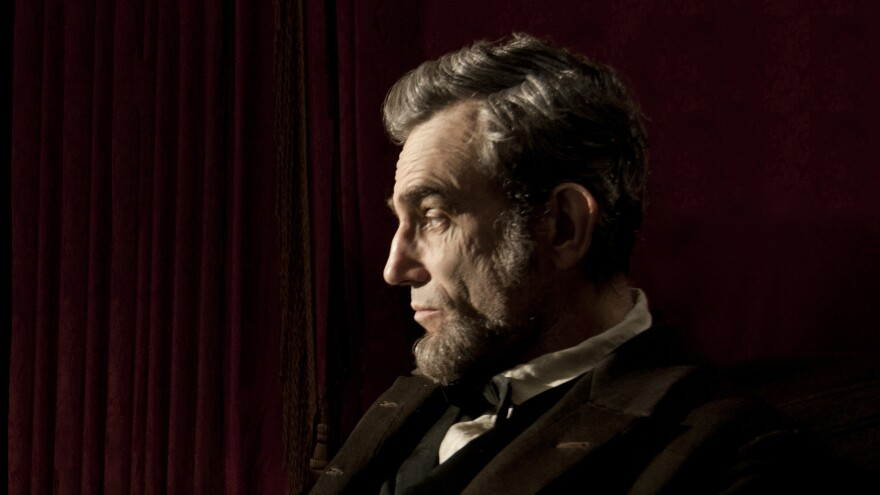 Daniel Day-Lewis, in the lead role of <em>Lincoln</em>.